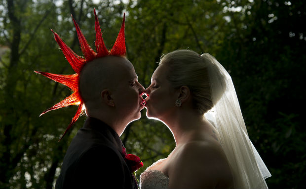 Alternative bride and groom by Halo and Hobby