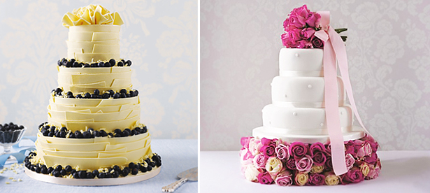 Round Tier Wedding Cakes by Marks and Spencer