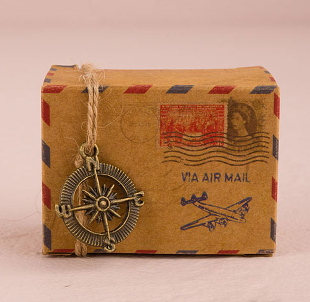 Vintage Inspired Airmail Favour Box