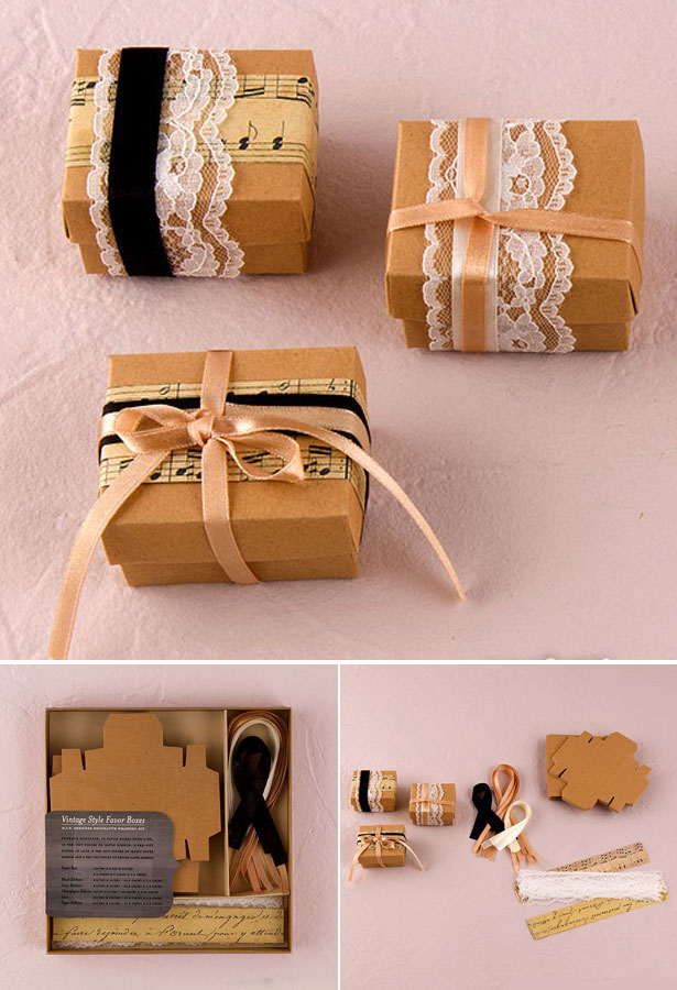 Vintage Style Favour Wrapping Kit
