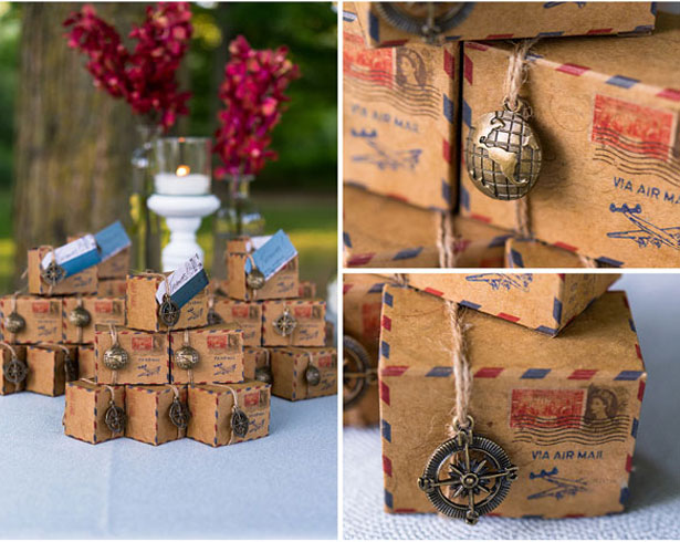 Vintage charms for wedding favours