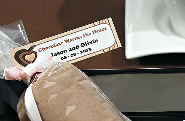 Personalised chocolate tag