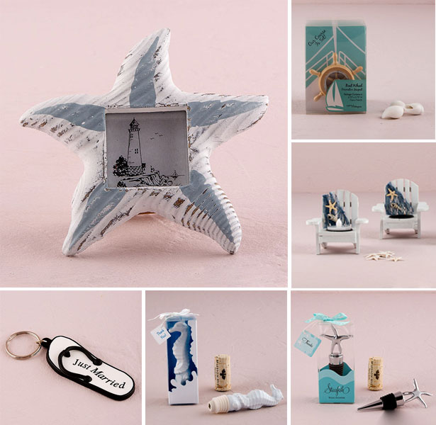 Beach wedding favours