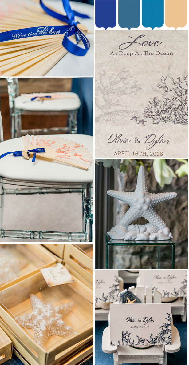 Confetti's By the Sea themed mood board