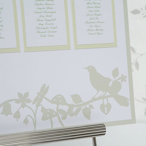 Love bird table planner