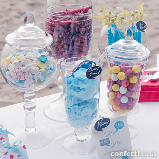 Sweetie buffet glass jars in the Confetti shop