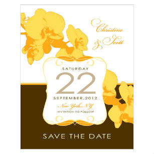 Orchid glamour vintage save the date invitation