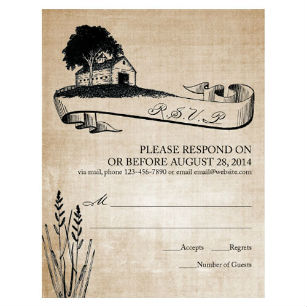 Vintage rustic country invitation