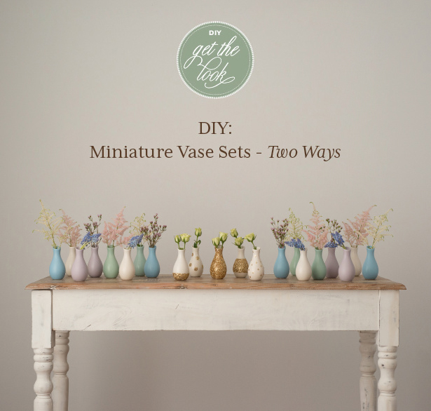 DIY Glitter and Pastel Mini Vase Decorations | Confetti.co.uk