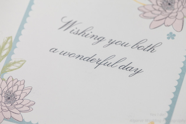 """Wishing you both a wonderful day"" card for the bride and groom"