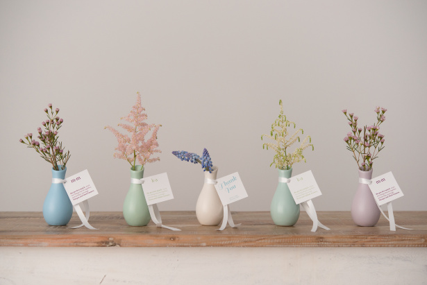 Pastel Vases Wedding Favours | Confetti.co.uk
