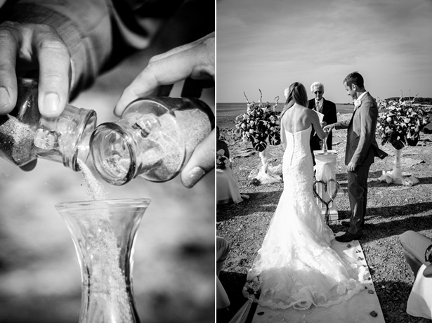 Kate and Rich's sand ceremony courtesy of  Ibiza Wedding Shop