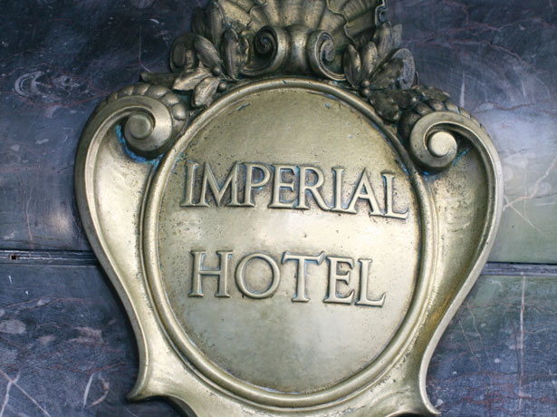 Wedding reception at the Imperial Hotel