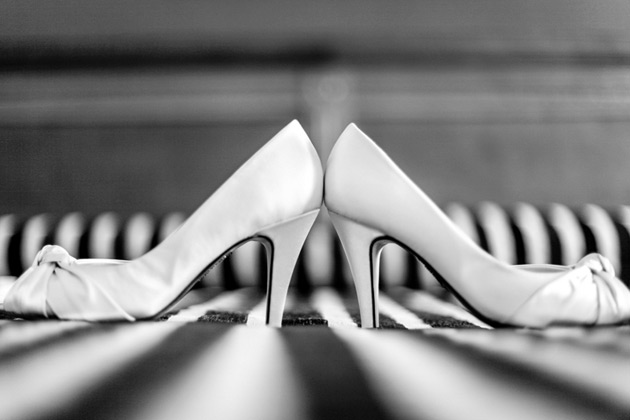 White pep toe bridal shoes