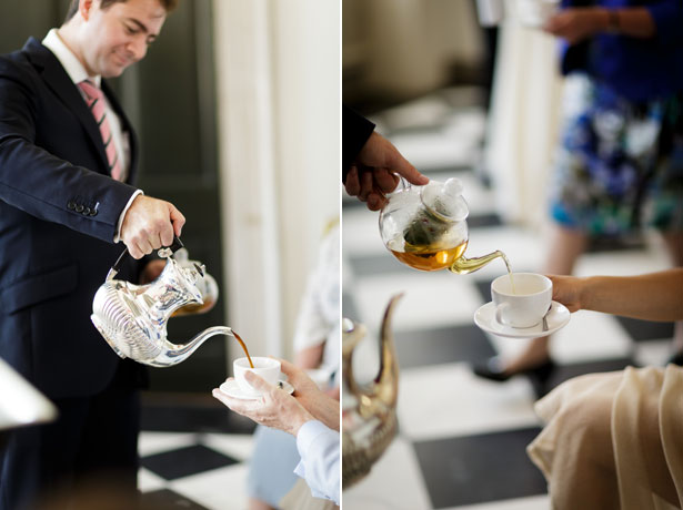 Tea for the guests after the ceremony