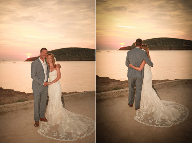 The newlyweds by the sea