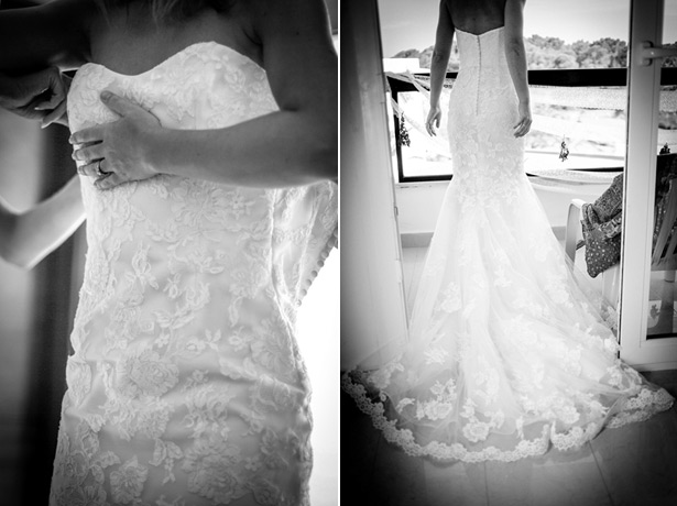Bride in her  Benjamin Roberts dress.