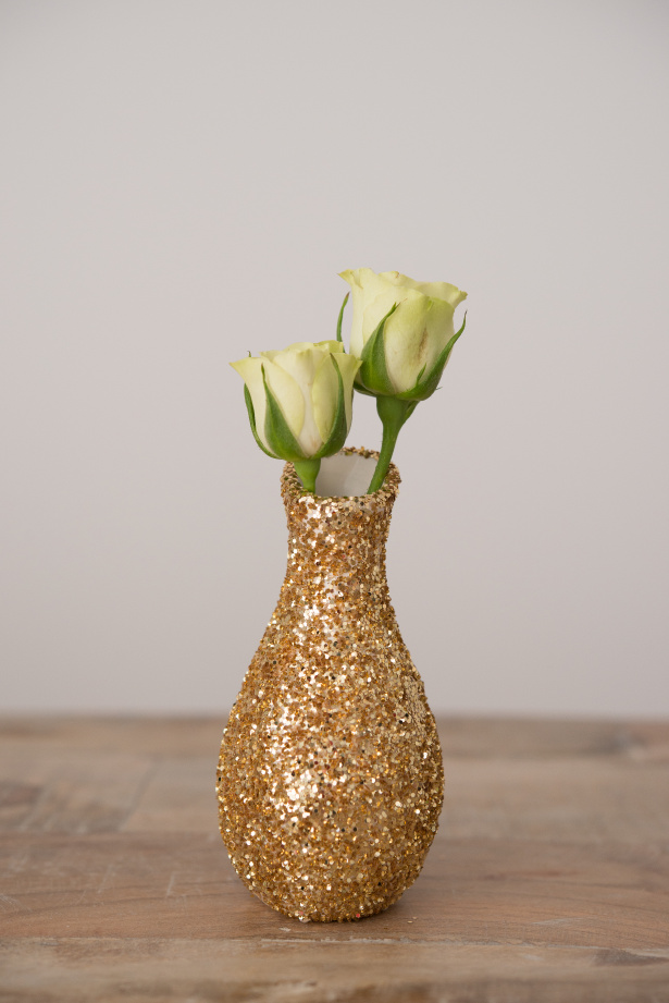 Gold Glitter Vase | Confetti.co.uk