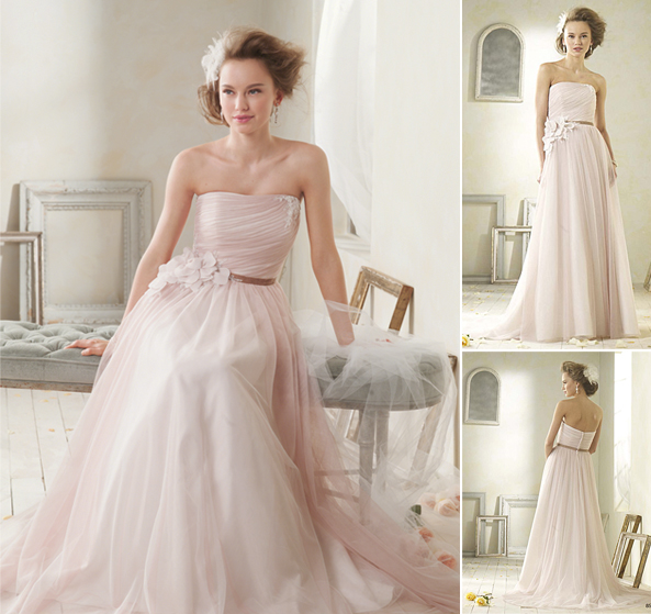 Alfred Angelo Modern Vintage Style 8527 - Blush Tones