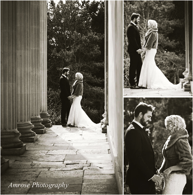 Amrose Photography Monochrome Vintage Bride and Groom