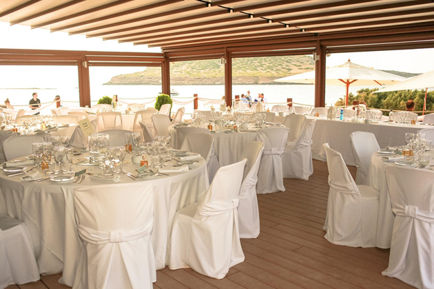 White themed weding reception