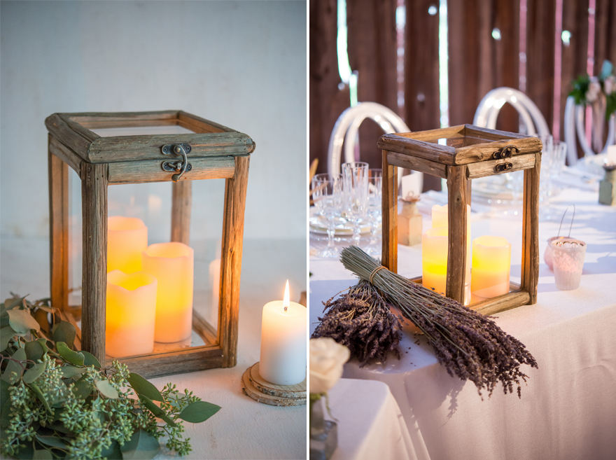 Rustic Wood and Glass Box Wedding Centrepiece | Confetti.co.uk