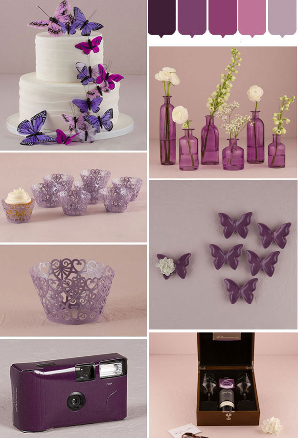 Purple wedding moodboard confetti.co.uk