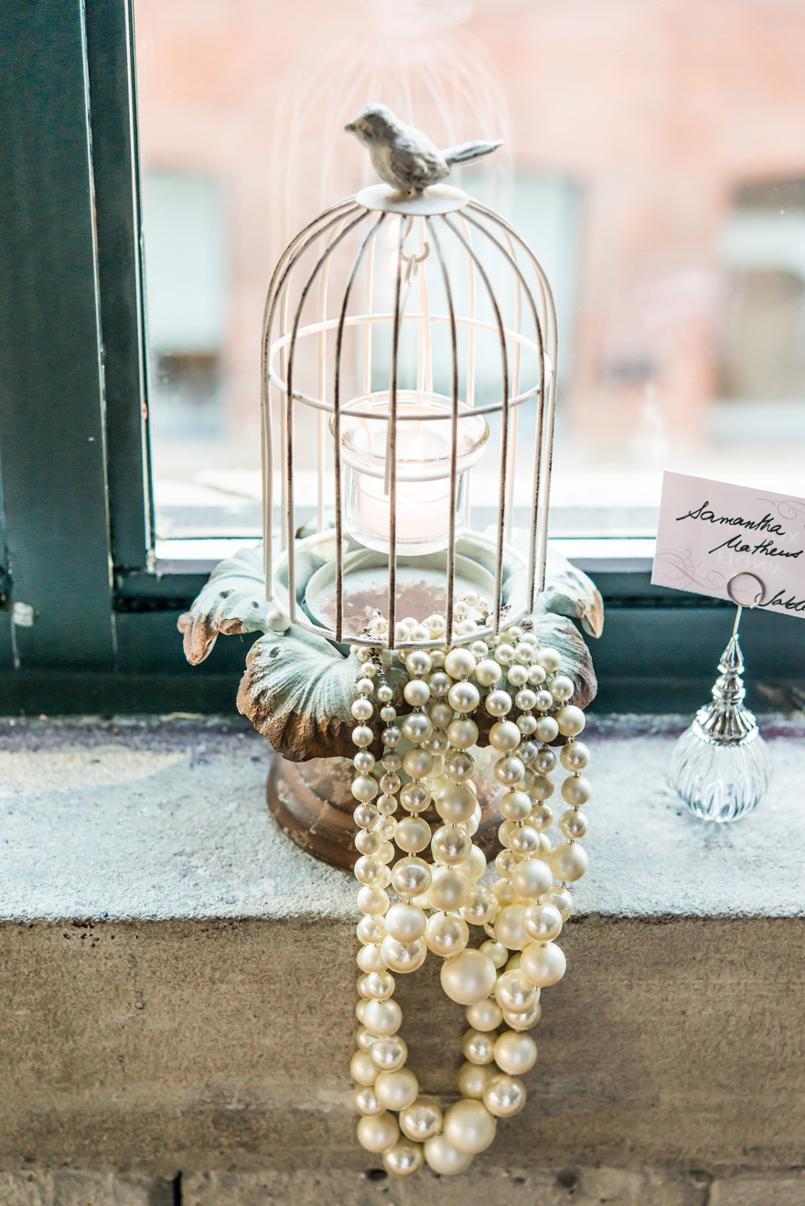 Vintage Metal and Pearls Birdcage Wedding Decorations | Confetti.co.uk