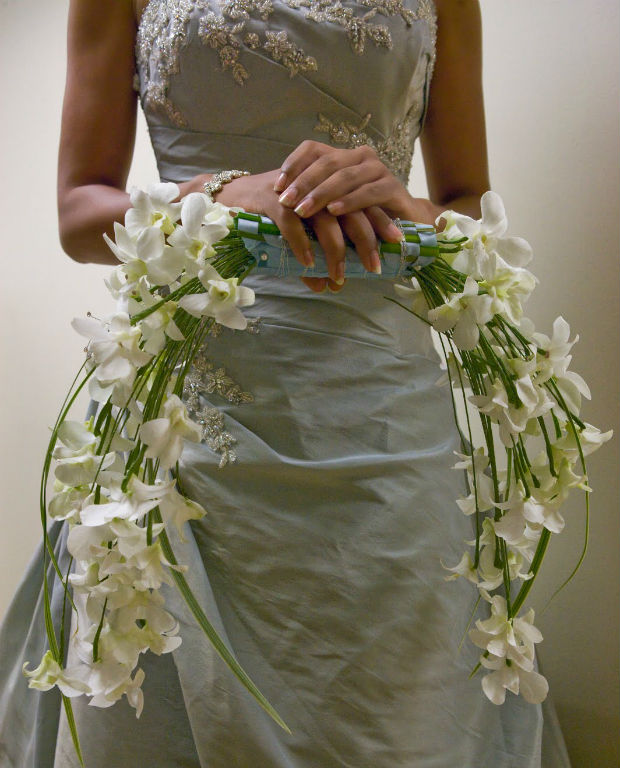 Crescent bouquet by Bergerons Flowers and Events