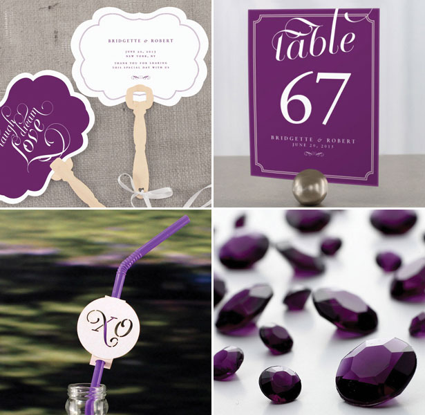Collection of Purple Reception Decoration