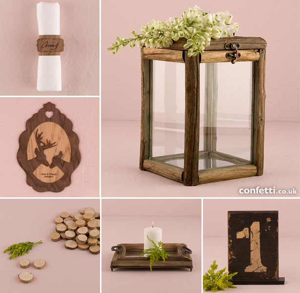 Woodland themed wedding accessories