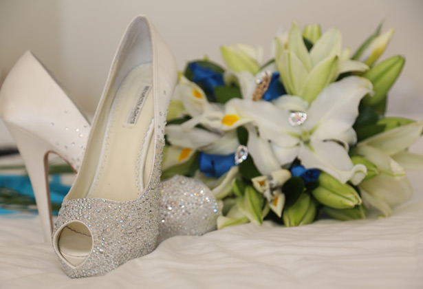 Diamante Benjamin Adams pep toe wedding shoes