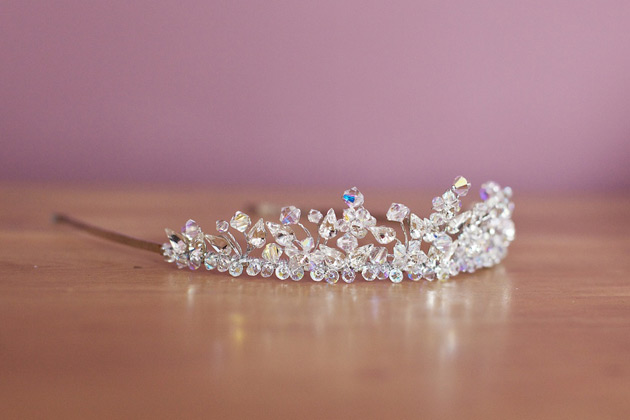 Bridal crystal beaded tiara