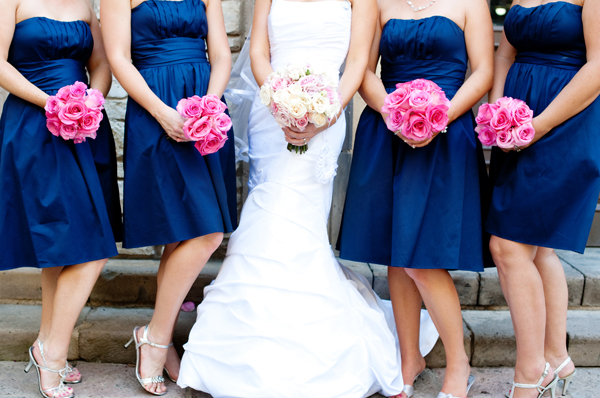 Navy Blue And Hot Pink Wedding Scheme 2014 Confetti Co Uk