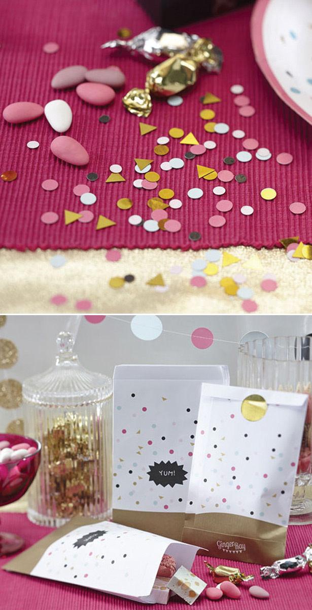 Table Confettil and Party Bags