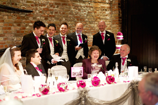 Kirsty and Mark's Fushsia Wedding Speech