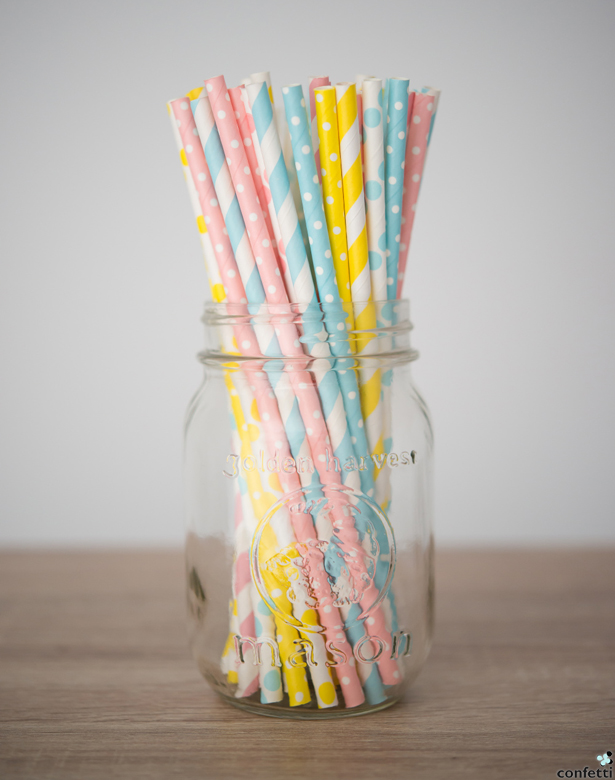 Colourful Straw Patterns | Confetti.co.uk