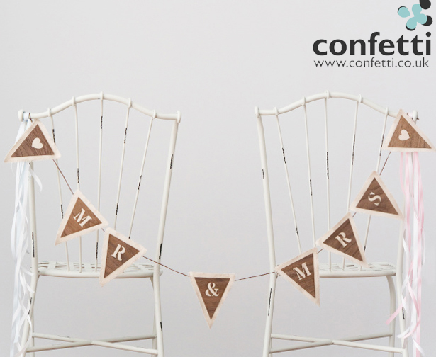 Bride & Groom Chairs DIY
