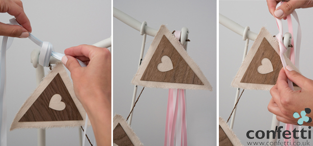 DIY bunting heart flags