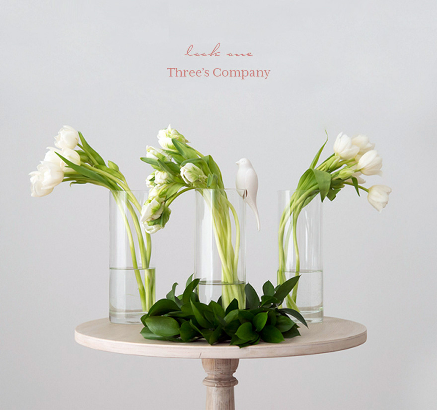 White and Green Spring Tulips Wedding Centrepiece   Confetti.co.uk