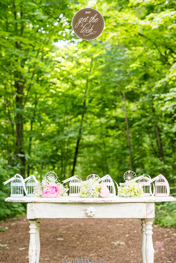 DIY Friday Chalk Painted Birdcage Favours
