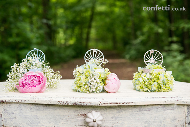DIY Article Finished Look Birdcage Flowers