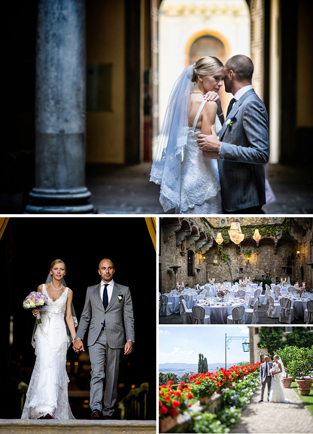 Agne and Dominique's Real Wedding in Tuscany