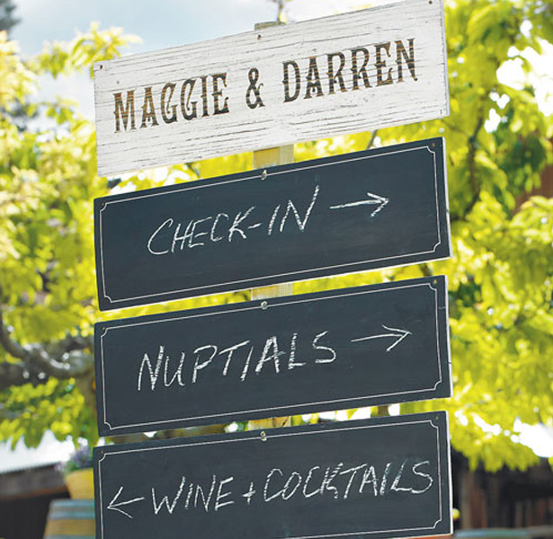 Wooden Chalk Sign Boards for the Wedding Reception