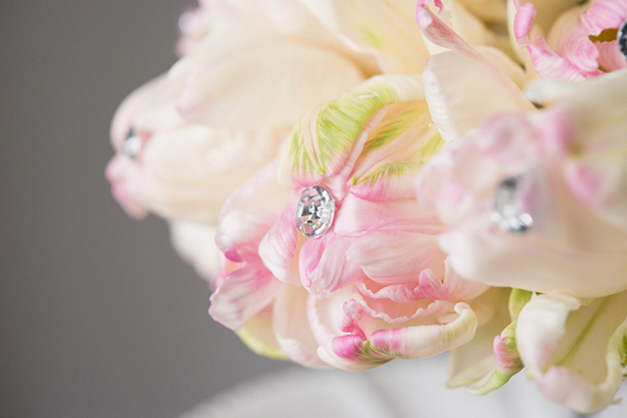 Sparkling Pink and Cream Flower Bouquet | Confetti.co.uk