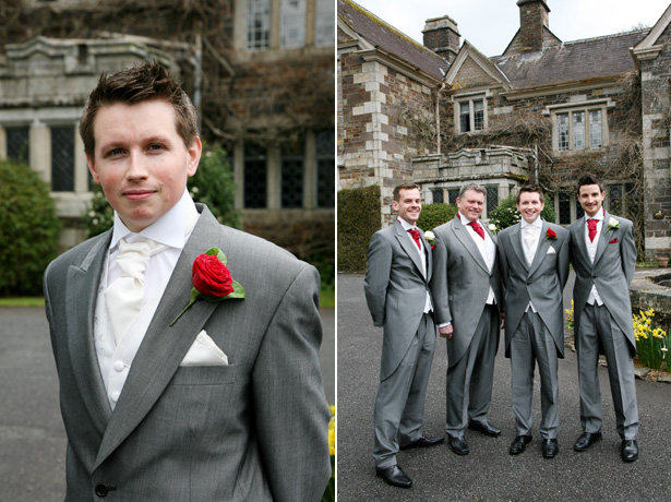 Groom and his groomsmen all in grey suits | Confetti.co.uk
