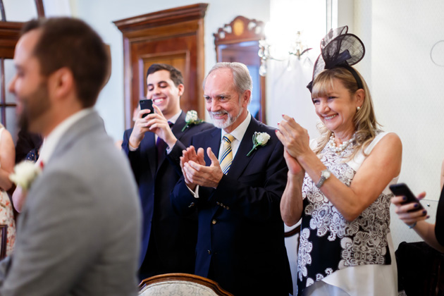 Guests celebrating the marriage|  Confetti.co.uk