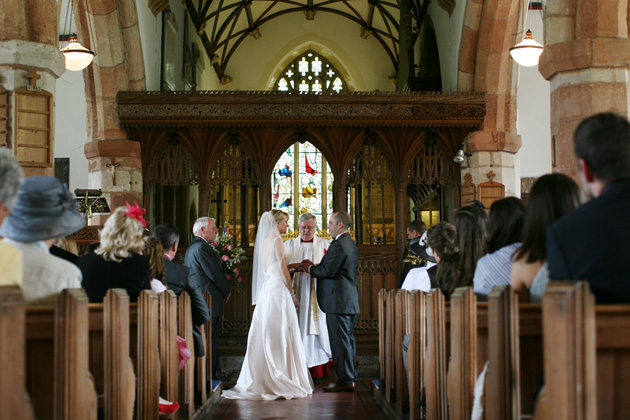 Intimate church wedding ceremony in Devon| Confetti.co.uk
