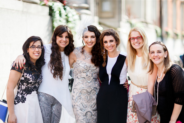 The bride with her wedding guests| Confetti.co.uk