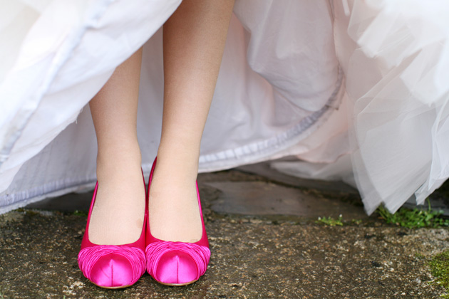 Hot pink bridal shoes by Ava Images | Confetti.co.uk